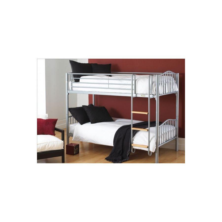 Awesome Electron Silver Bunk Bed Inzonedesignstudio Interior Chair Design Inzonedesignstudiocom