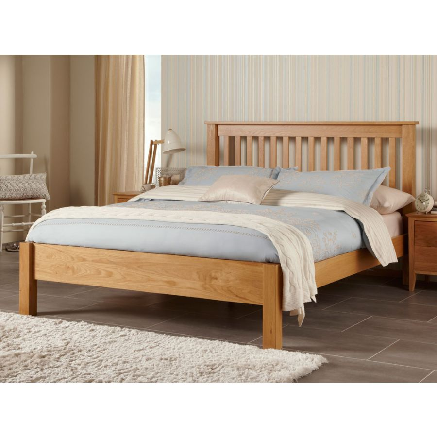 wholesale dealer e9484 69691 Lincoln American White Oak Superking 6ft Bed Frame