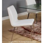 Langley White PU Leather Dining Chair