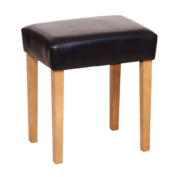 Brown Faux Leather Stool