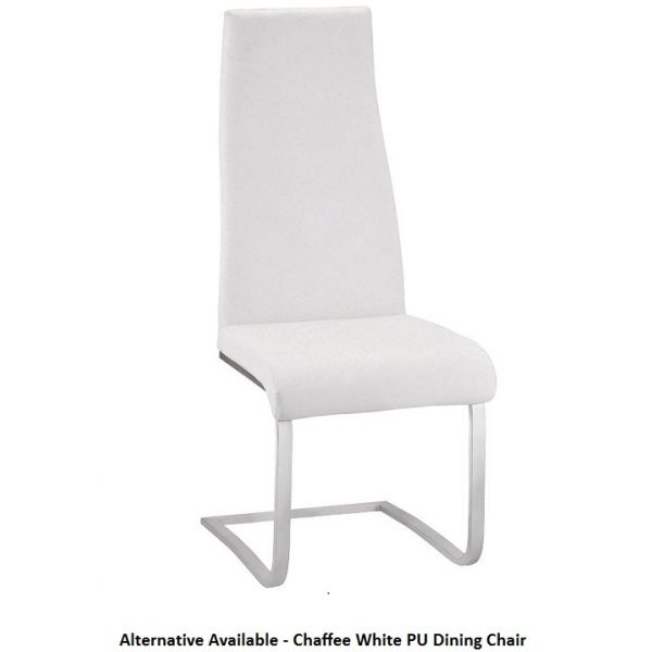 Chaffee White PU Leather Dining Chair