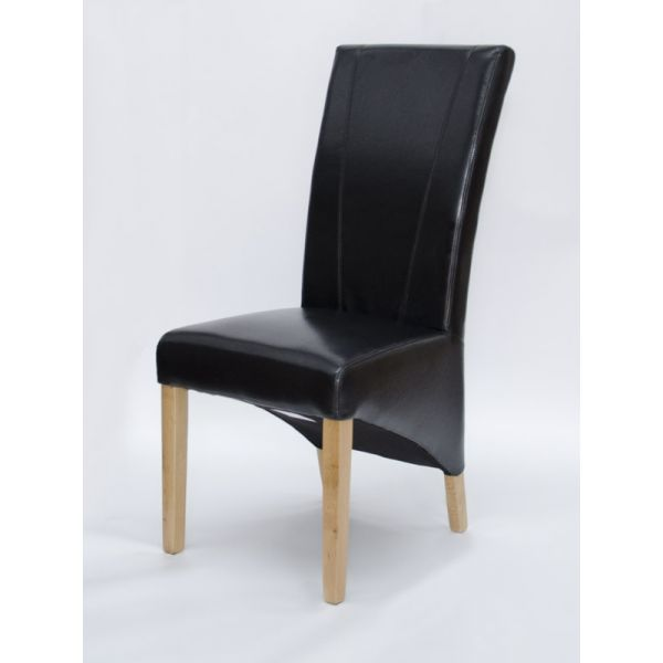 Blakely Black Bonded Leather Chair
