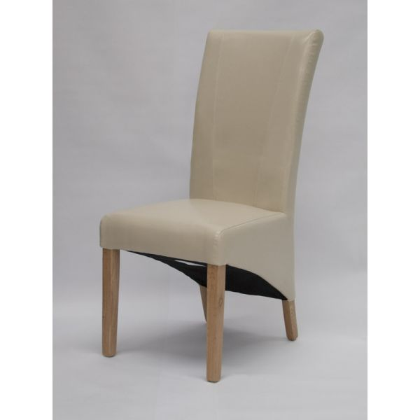 Blakely Ivory Bonded Leather Chair