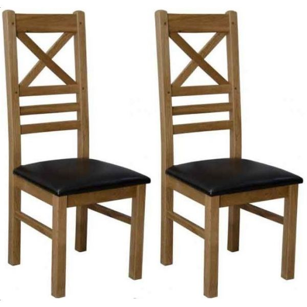 Crossley Chairs with Brown Seatpads