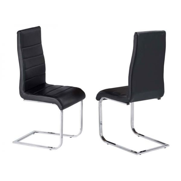 Evolve Black faux leather chairs