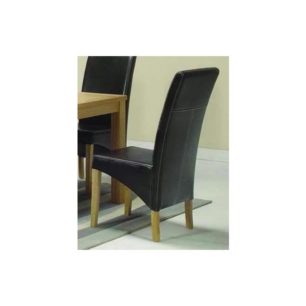 Hampton Brown Bycast Leather Chair - Tapered side detailing and decorative stitching to the backs