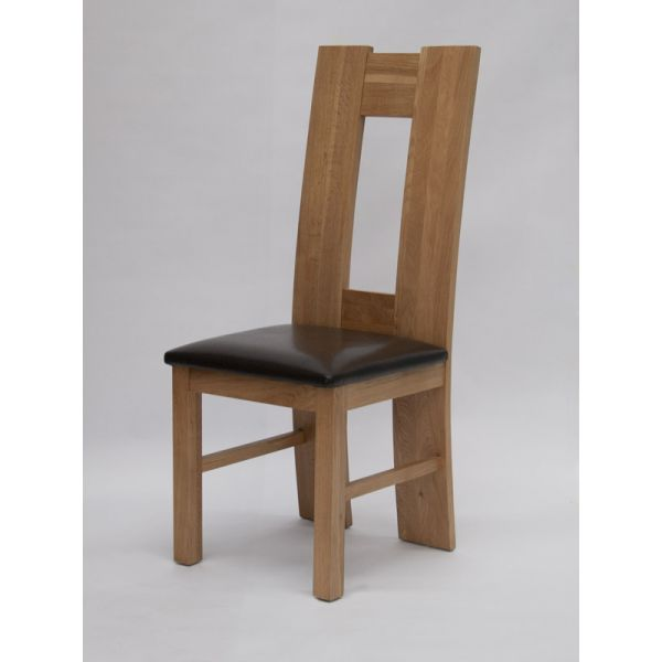 Woodbury Oak/Bicast Leather Chair