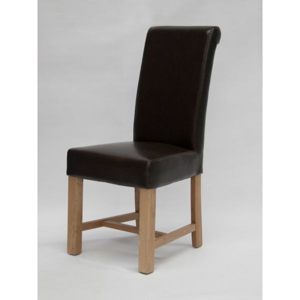 Nashville Brown Bicast Leather Chair