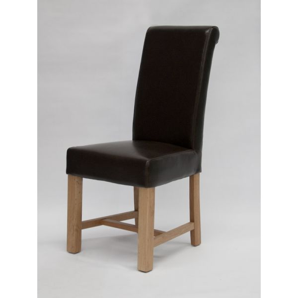 Nashville Brown Bicast Leather Chair