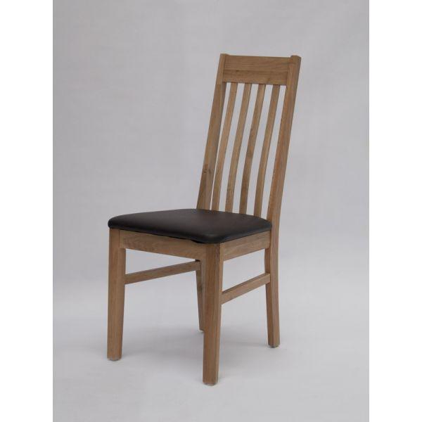 Jerico Oak/Faux Leather Chair