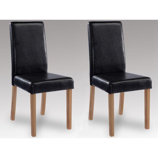 Oakridge Black Faux Leather Chair