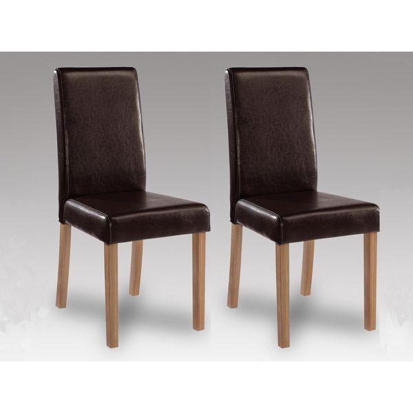 Oakridge Brown Faux Leather Chair