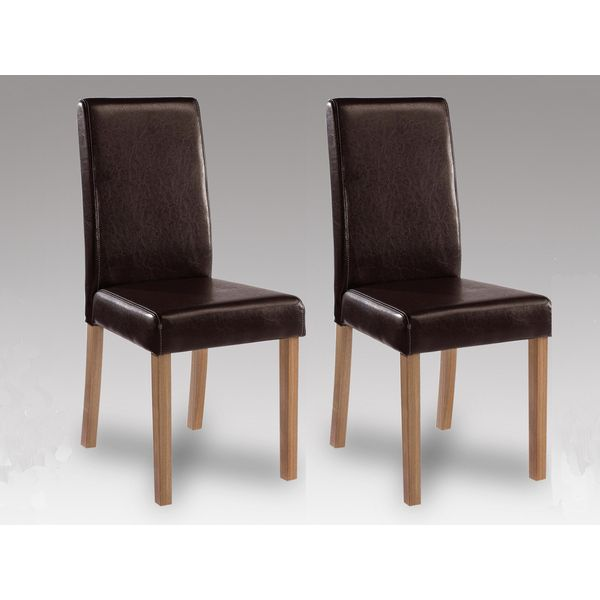 Oakridge Brown Faux Leather Chair