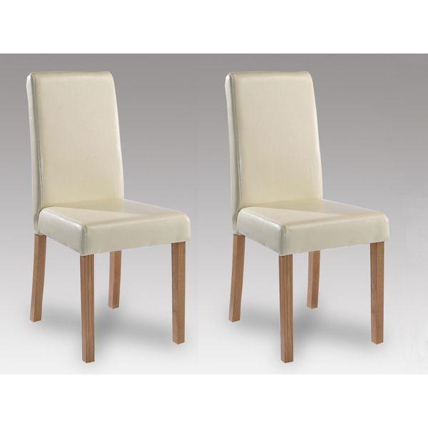 Oakridge Cream Faux Leather Chair