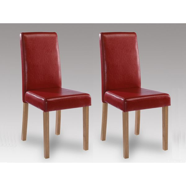 Oakridge Red Faux Leather Chair