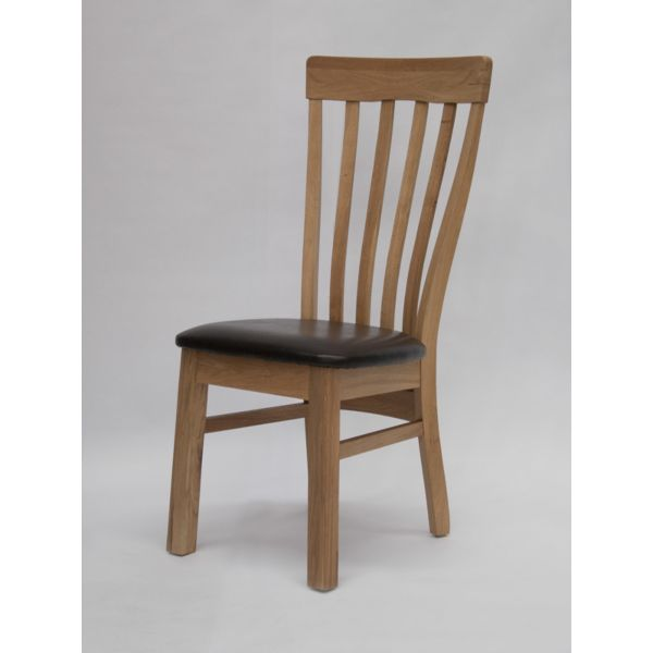 Hazelton Oak/Bicast Leather Chair