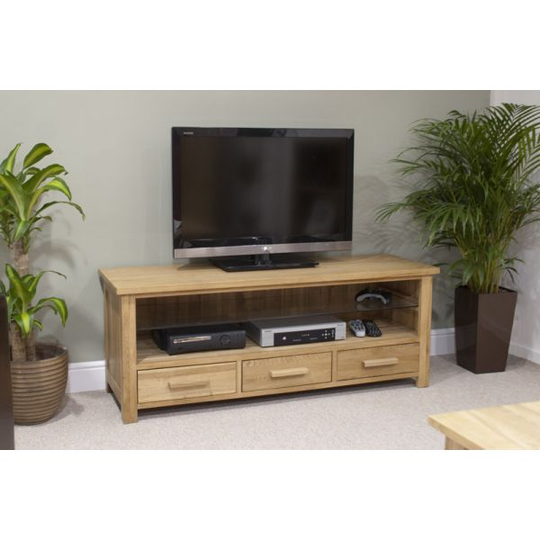 Georgia Solid Oak LCD TV Unit