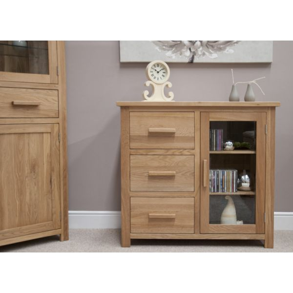 Georgia Solid Oak Small Glazed Sideboard