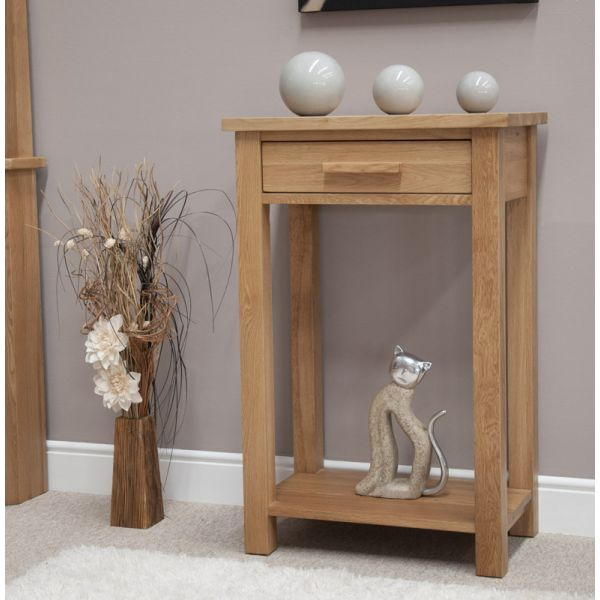 Georgia Solid Oak Small Console Table