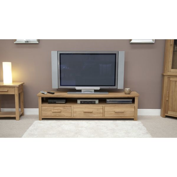 Georgia Solid Oak Wide LCD TV Unit