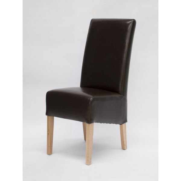 Callaway Brown Bicast Leather Chair