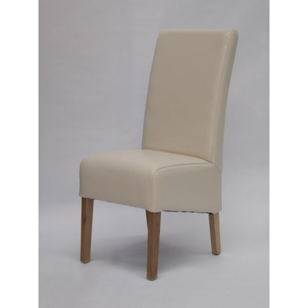 Callaway Ivory Bicast Leather Chair