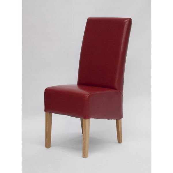 Callaway Red Bicast Leather Chair