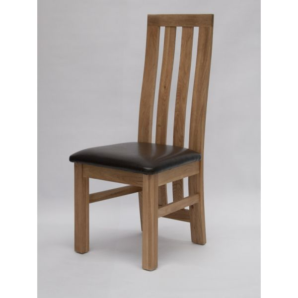 Ridge Oak/Bicast Leather Chair
