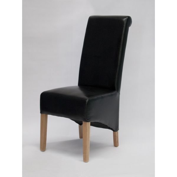 Dyer Black Bonded Leather Chair