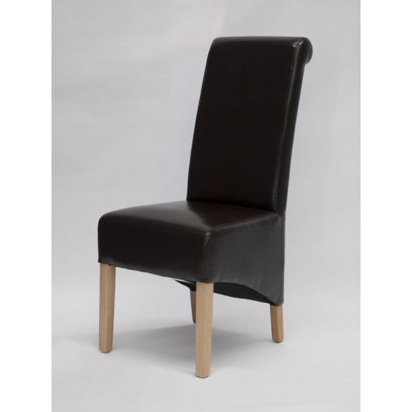 Dyer Brown Bonded Leather Chair