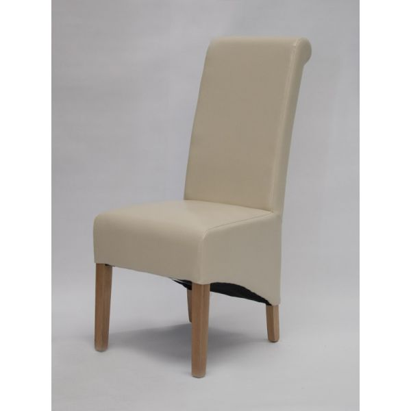 Dyer Ivory Bonded Leather Chair