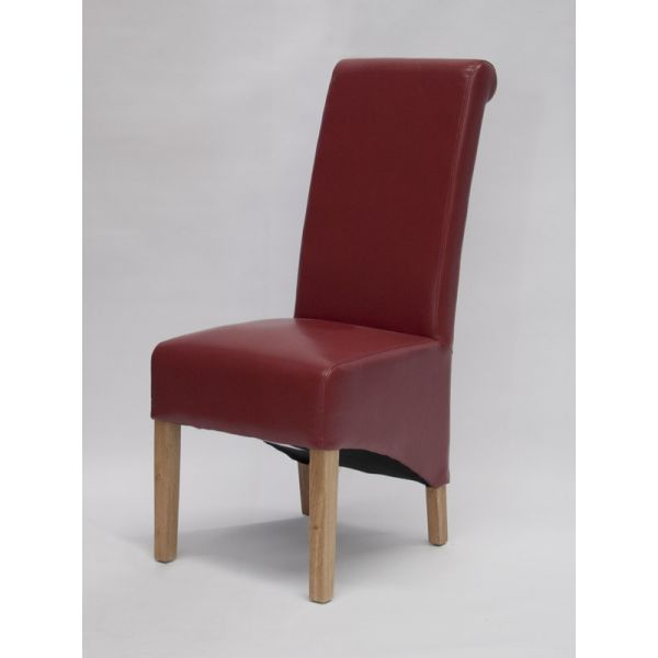 Dyer Red Bonded Leather Chair