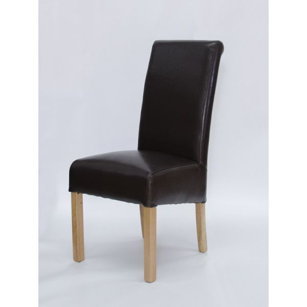 Willow Brown Bicast Leather Chair