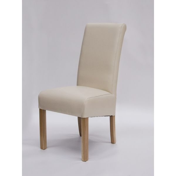 Willow Ivory Bicast Leather Chair