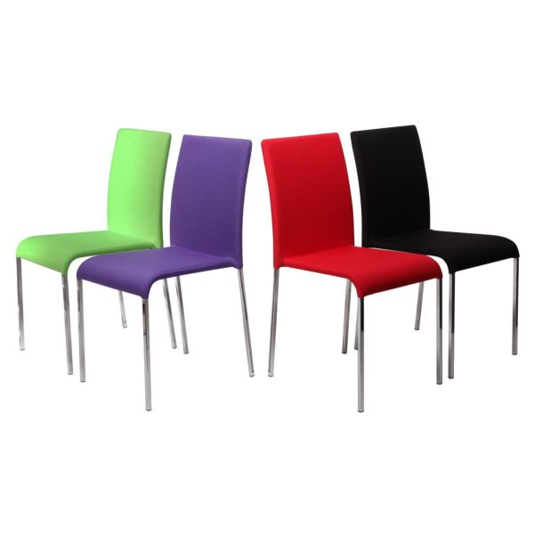 Tone Green, Purple, Red & Black Chairs