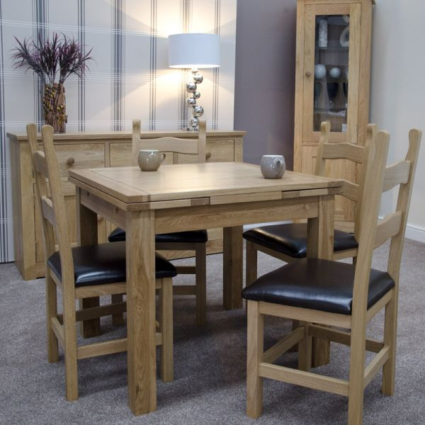 Millie Set with 4 x 'Hickory' chairs