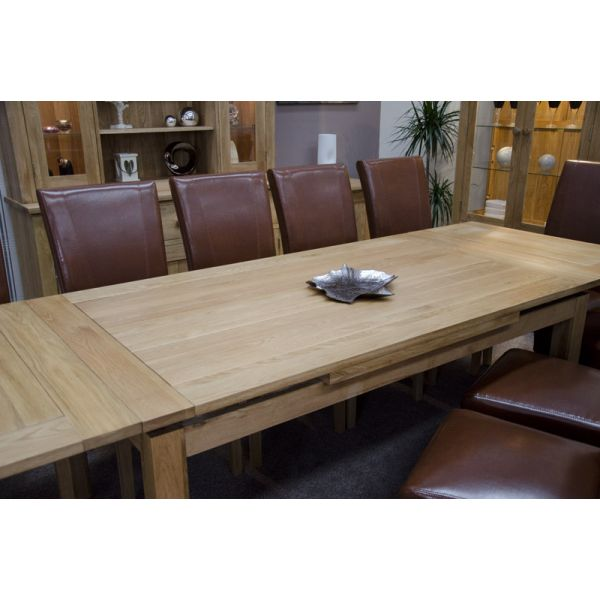 Poppy Large Panelled Draw Leaf Extending Table - Top detail (now UNGROOVED)