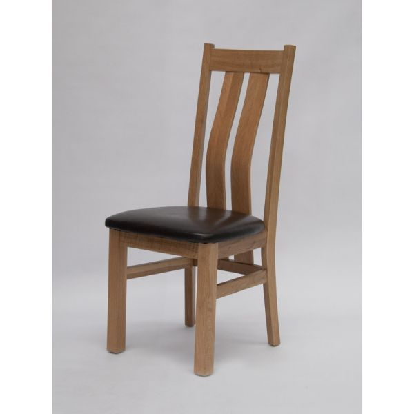 Rexburg Oak/Bicast Leather Chair