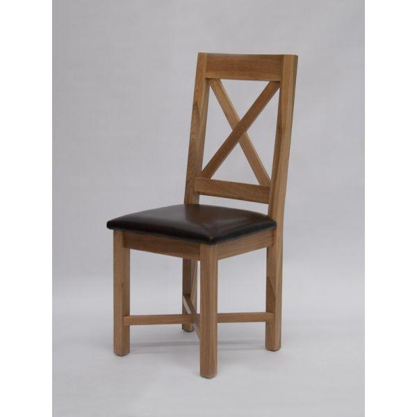Norcross Oak/Faux Leather Chair